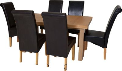 Buy Collection Wickham Dining Table amp 6 Chairs Oak Veneer  : 6037431RSETTMBampwid620amphei620 from www.argos.co.uk size 620 x 620 jpeg 21kB
