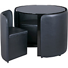 more details on Hygena Black Gloss Space Saver Table and 4 Chairs.