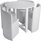 more details on Hygena White Gloss Space Saver Table and 4 Chairs.