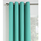 more details on Collection Linen Look Blackout Curtains - 117x137cm - Teal.