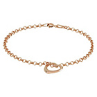 more details on 9ct Rose Gold Floating Heart Bracelet.