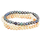 more details on Freshwater Pearl Multicolour Bracelets - Set of 3.