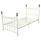 more details on Home of Style Alderberry Single Bed Frame - White.