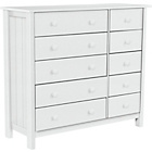 more details on HOME New Scandinavia 5 + 5 Drawer Chest - White.