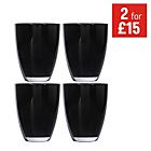more details on HOME Everyday Set of 4 Tumblers - Black.