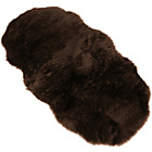 Faux Fur Double Sheep Shape Rug - Brown - 75 x 133cm