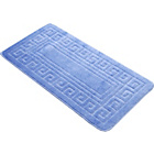 more details on Greek Key Bath Mat - Blue - 50 x 100cm.