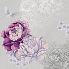 more details on Floral Metallic Wall Art Canvas.