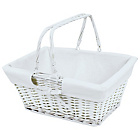 more details on Wicker Shopping Basket with White Lining.