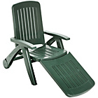 more details on HOME Deluxe Green Resin Sun Lounger.