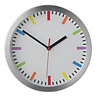 more details on HOME Kids Round Wall Clock - Silver.