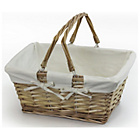 more details on Wicker Shopping Basket with Neutral Lining.