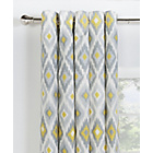 Collection Kali Ikat Lined Eyelet Curtains - 229x229cm