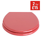 more details on ColourMatch Toilet Seat - Coral.