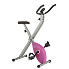Opti Folding Exercise Bike - Pink