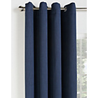 more details on Collection Linen Look Blackout Curtains - 117x137cm - Navy.