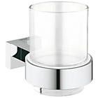 more details on Grohe Essentials Cube Glass with Holder.