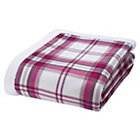 more details on Catherine Lansfield Kelso Sherpa Throw 150x200cm - Red.
