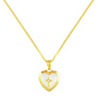 more details on Little Star 9ct Gold Plated Silver Cross Locket Pendant.