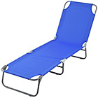 more details on Folding Sunbed - Blue.