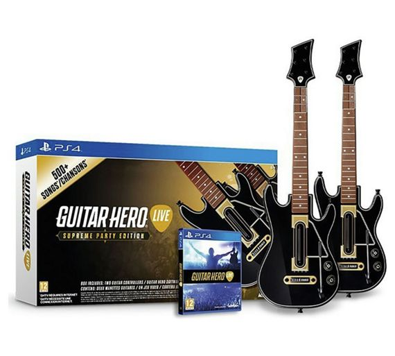 buy guitar hero the supreme party 2 guitar edition ps4 game at your online shop. Black Bedroom Furniture Sets. Home Design Ideas