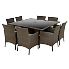 more details on The Collection Fiji 8 Seater Rattan Effect Set - Grey.