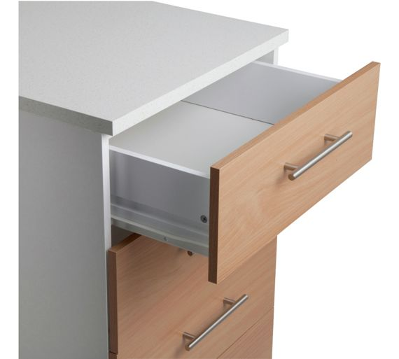 buy athina 500mm fitted kitchen drawer unit beech wood