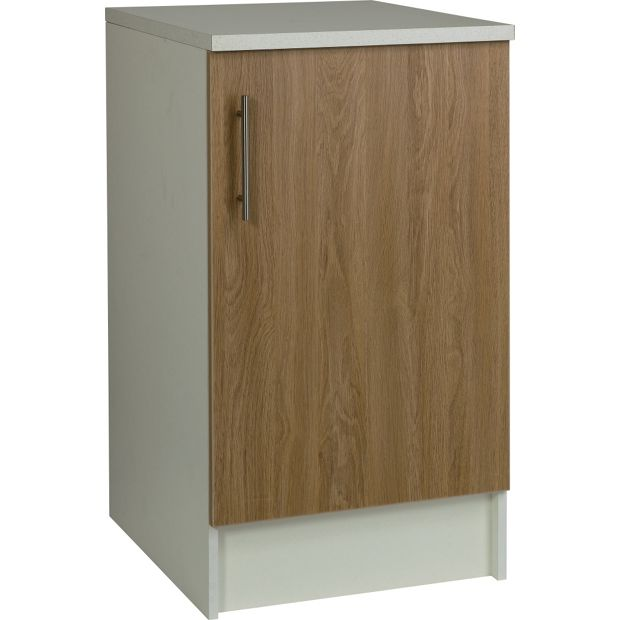Buy athina 500mm fitted kitchen base unit oak at your online shop for kitchen - Fitted kitchens for small spaces set ...
