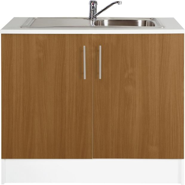 Kitchen Shelf Argos: Buy Athina 1000mm Stainless Steel Kitchen Sink Unit