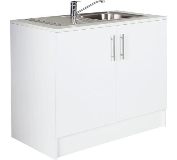 Buy athina 1000mm stainless steel kitchen sink unit for 1000mm kitchen drawer unit