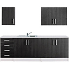more details on Athina 5 Piece Fitted Kitchen Unit Package - Black.