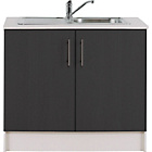 more details on Athina 1000mm Stainless Steel Kitchen Sink Unit - Black.
