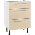 more details on Hygena Valencia 600mm 3 Drawer Kitchen Base Unit - Cream.