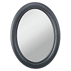 more details on Collection Coleen Oval Wall Mirror - Black.