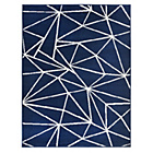more details on HOME Fractured Lines Rug - 120x160cm - Blue.