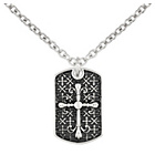more details on Urban Rock Stainless Steel Cross Dog Tag Pendant Boxed.
