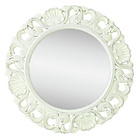 more details on Collection Casa Ornate Circular Vintage Look Mirror - White.