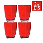 more details on HOME Everyday Set of 4 Tumblers - Red.