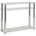 more details on Hygena Matrix Console Table - Clear Glass.
