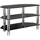 more details on Hygena Matrix 3 Shelves TV Entertainment Unit - Black Glass.