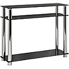 more details on Hygena Matrix Console Table - Black Glass.
