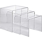 more details on Hygena Mistral Nest of 3 Tables - Clear Acrylic.