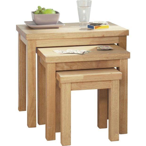 Buy Home Gloucester Nest Of 3 Tables Solid Wood At Your Online Shop For Coffee