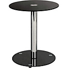 more details on HOME Matrix Round Lamp Table - Black Glass.