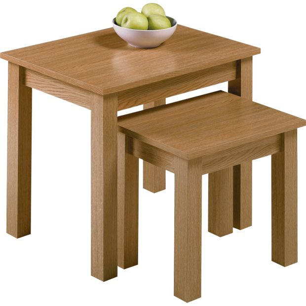 Buy Home Nest Of 2 Tables Oak Effect At