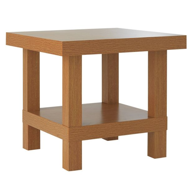 Buy home chunky end table oak effect at for Sofa table argos