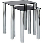 more details on HOME Matrix Nest of 2 Tables - Black Glass.