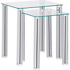 more details on Hygena Matrix Nest of 2 Tables - Clear Glass.
