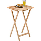 more details on Argos Value Range Single Folding Tray Table- Natural Finish.