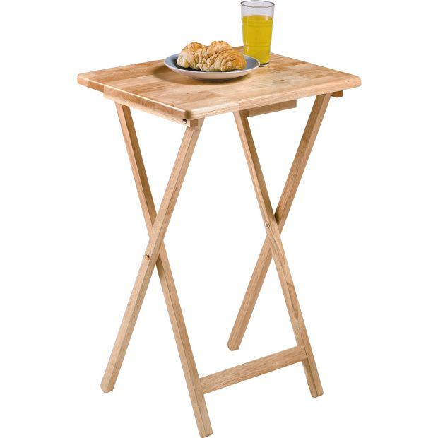 Buy HOME Single Folding Tray Table Natural At Your Online Sho